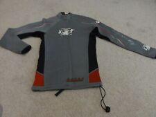 Unisex Gray Body Glove Long Sleeve Rash Guard Shirt Swimwear In Size Small S