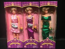 Qty Lot 3 Rare Royal Princess Diana Barbie Dolls Way Out Toys Collectible 40050A