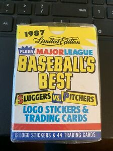1987 Fleer Baseball's Best Sluggers Vs. Pitchers Complete Boxed Set *NEW IN BOX