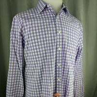 Untuckit Button Down Shirt Mens Size Large Long Sleeve Purple Checks Cotton