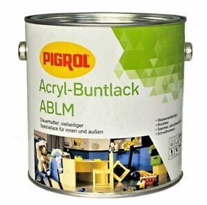 2,5 L PIGROL Acryl-Buntlack, nach RAL Farbtonkarte, Matt