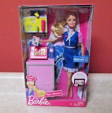 Barbie I Can Be Flight Attendant Wal-Mart Exclusive Doll RARE 2012 OOP