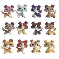 Littlest Pet Shop Collie chien LPS Rare puppy Kids collection cute toy gift