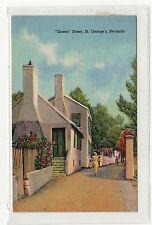 QUEEN STREET, ST.GEORGE'S: Bermuda postcard (C2287).