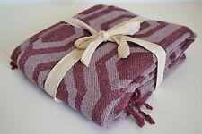 Granate Rojo Púrpura Manta 150x130cm Chenille suave 100% algodón