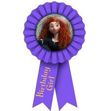 BRAVE GUEST OF HONOR RIBBON ~ Birthday Party Supplies Award Favors Merida Purple