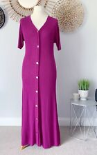 Zara Knit Pink/Purple Ribbed Maxi Dress Size M NEW Rrp £49.99 Gold Tone Buttons