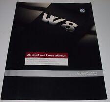 Auto Prospekt Preisliste VW Passat Typ 3BG B5 W8 8 Zylinder Stand Dezember 2002!