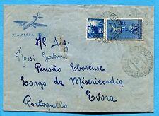 1950 UNESCO £.55 + DEM.£.30 ann.REGGIO E., 04.08.50 per il PORTOGALLO  (224499)