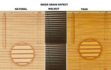 PVC Venetian Window Blinds / Wood Wooden Grain  Effect Blind/Trimmable/ Easy Fit