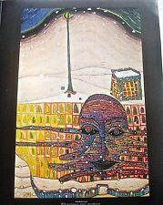 Friedensreich Hundertwasser Poster Reprint of Winter Painting 14x11 Offset Litho