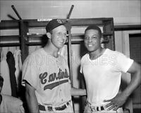 Stan Musial Willie Mays Photo 8X10  Cardinals Giants 1956  Buy Any 2 Get 1 FREE