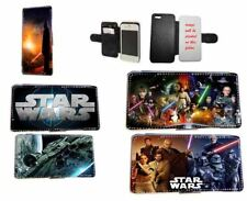 Star Wars Phone case Inspired Leather flip wallet for Samsung iPhone Sony Xperia