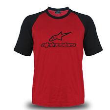 Genuine Alpinestars Logo Sport Racing Motocross Streetwear Biker Red Tee T-Shirt