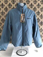 NWT Timberland 2001 Mens MED BLUE Full Zip Packable Windbreaker Jacket