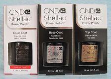 CND Shellac UV LED Gel Power Polish 3-pc Set FAUX FUR BASE TOP COAT Auth NIB