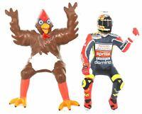 Minichamps Valentino Rossi Figurine + Chicken GP 250 Barcelona 1998 1:12 Scale