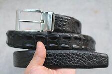 Black Genuine Alligator Crocodile Leather SKIN MEN'S Belt