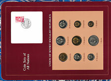 Coin Sets of All Nations USSR Russia w/card 1976-1979 Ruble 50,20 Kopeck 76 UNC