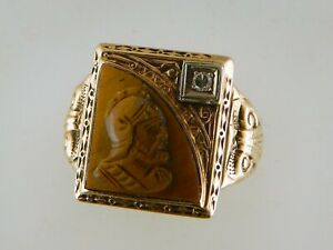 NICE ANTIQUE VINTAGE ESTATE RING WITH SMALL DIAMOND * SIZE 7 * WEIGHS 5.4 GRAMS