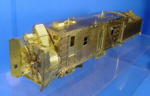 O SCALE or ON3 BRASS OVERLAND MODELS D&RGW ROTARY SNOW PLOW OM MINT IN BOX