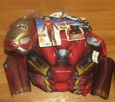 Captain America Civil War Iron Man LIGHTS UP! 3D Costume Marvel Rubies M(8-10)