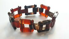 A Victorian Scottish Agate Link Bracelet - Very Good Condition