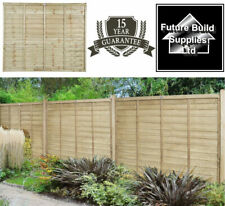 More details for premier super lap pressure treated fence panel 6ft wide x 6ft 5ft 4ft high post