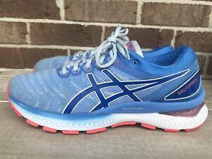Asics Gel Nimbus 22 Women's Running Shoes Size 10 Blue 1012A587 Blue Orange