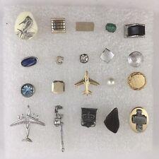 Tie Pin Tack Lot of 20 Eclectic Unique Stone Lucite Figural Bone Vintage G1