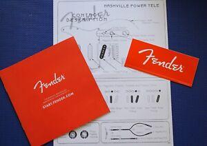 Fender Telecaster Nashville Power Control Description and Fender RED ACCESSORY