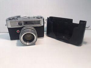 Yashica Lynx-5000 Vintage Rangefinder 35mm Film Camera Yashinon 45mm f/1.8 Lens