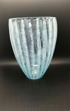 """Crate and Barrel Blue """"Breeze"""" Vase"""