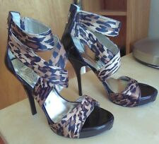 "Women's Fancy Shoes GUESS Platform 5"" High Heels Leopard Size 7 M"