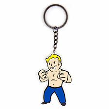 Fallout 4 Rubber Figure Portachiavi Keychain Vault Boy Strength Skill Originale