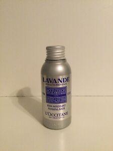 L'Occitane LAVANDE Lavender Essential Oil Foaming Bubble Bath Foam Mini 100ml