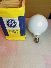 "General Electric 5"" 100w 120v White Decorative Incandescent Light Bulb Nos"