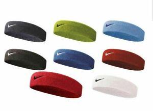 Nike Swoosh Headband NEW Tennis Squash Badminton Gym Sweat Bands Blue Black
