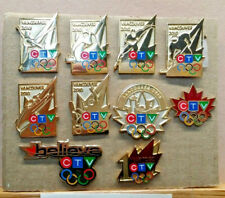 2010 VANCOUVER CTV MEDIA OLYMPIC WINTER GAMES 10 PIN SET