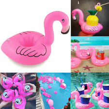 Hot Inflatable Pink Flamingo Floating Can Beer Cup Drink Holder Pool Party Toy