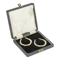PAIR FRANCIS HOWARD SHEFFIELD SILVER HORSESHOES 1962