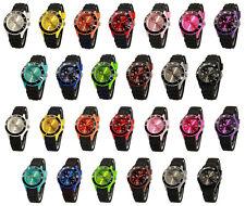 sv24 watch Silikon Uhr Schwarz Armbanduhr Damen Herren Kinder Sport Trend Uhren