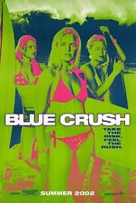 BLUE CRUSH -2002 original 27x40 surf movie poster- KATE BOSWORTH - Green Advance