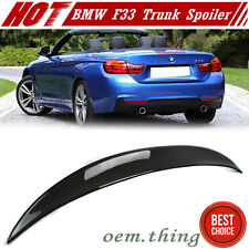 IN LA STOCK Carbon For BMW 4-Series F33 Convertible P Trunk Spoiler 435i 16 17
