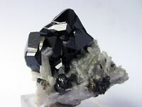 CASSITERITE CRYSTALS and QUARTZS on MATRIX from BOLIVIA...........GORGEOUS PIECE