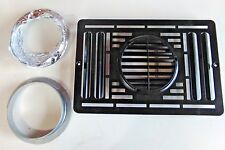 ATWOOD RV FURNACE FRONT GRILL OD EXTERIOR VENT KIT 30259 IN BLACK NO TRIM PC
