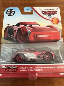 NEW 2021 Disney Pixar CARS Racing Red CHASE Hunt SUPER RARE Jackson Storm CHROME