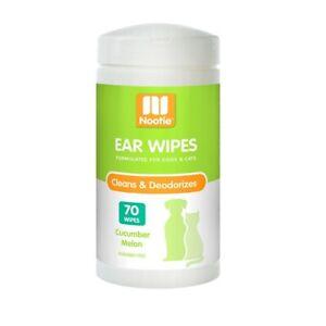 Nootie Ear Wipes for Pets - Cleans & Deodourises - Cucumber Melon - 70 Pack