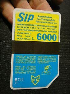 SCHEDA TELEFONICA SIP - LIRE 6000 -