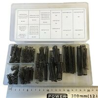 Assorted Box Of 114 Compression Springs Good Quality With Black Finish -